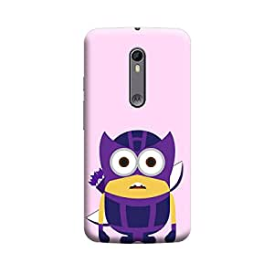 Minion in Hawkeye Super Heros Premium Quality Designer Cases For Moto G2 Matte Finish Hard Case Mobile Back Cover With Full Protection