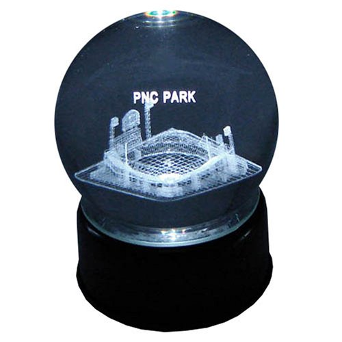 Pittsburgh Pirates PNC Park Laser-Etched Musical Crystal Ball