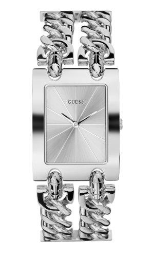 GUESS Women's G75916L Brilliance on Links Silver-Tone Bracelet Watch