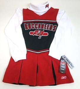 NFL Reebok Tampa Bay Buccaneers 2 Piece Cheerleader Jumper Girls Medium (Size 10-12) by Reebok