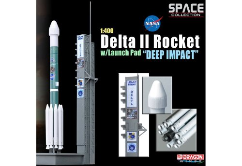 "Dragon Models 1/400 Delta Ii Rocket With Launch Pad ""Deep Impact"""