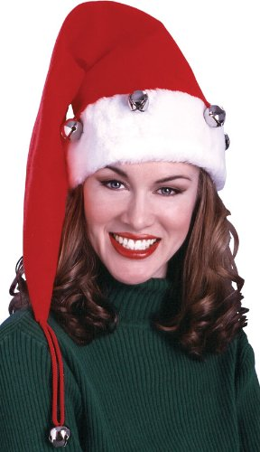 Rubie's Costume Women's Extra Long Santa Hat With Bells