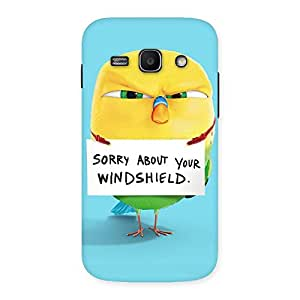 Stylish Cute Sorry Print Back Case Cover for Galaxy Ace 3