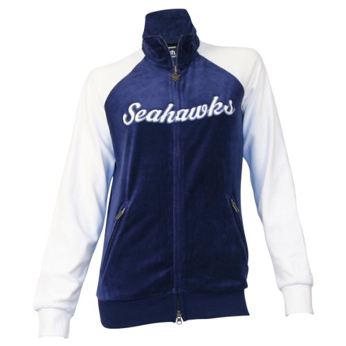 Seattle Seahawks Women's Touch By Alyssa Milano Velour Jacket - Large at Amazon.com