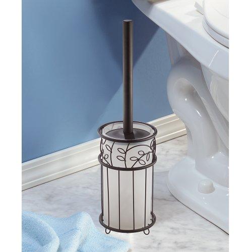 toilet cleaner brush bowl holder scrub storage set bath cleaning bathroom bronze ebay. Black Bedroom Furniture Sets. Home Design Ideas