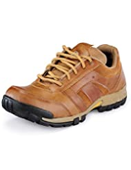 Macoro Men's Casual Lace Up Beige Color Shoes (CD1027)