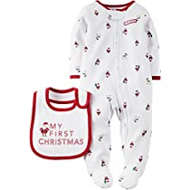 Carters Unisex Baby My First Christmas Sleep & Play Set