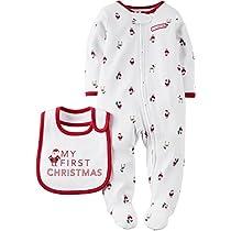 Carters Unisex Baby My First Christmas Sleep & Play Set