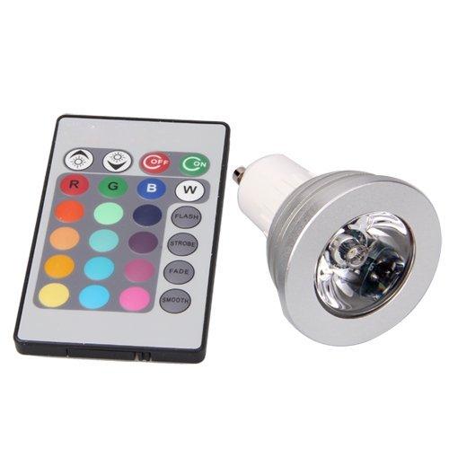 gu10 lampada bulbo rgb led multicolore 5w telecomando. Black Bedroom Furniture Sets. Home Design Ideas