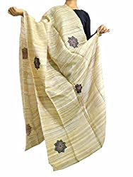 GiftPiper Jute Silk Hand Embroidered Dupatta- Applique Work