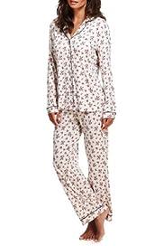 Revere Collar Ditsy Floral Pyjamas [T37-8299-S]