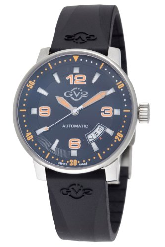 GV2 by Gevril Men's 4009R Stadium Automatic Stainless Steel Rubber Strap Watch