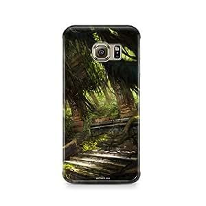 Motivatebox - Samsung S6 Back Cover - Burried Ancient Temple Polycarbonate 3D Hard case protective back cover. Premium Quality designer Printed 3D Matte finish hard case back cover.