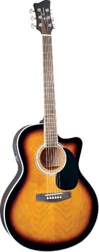 Jay Turser Jta-444-Cet-Tsb Acoustic-Electric Guitar, Tobacco Sunburst