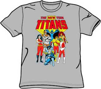 : NEW TEEN TITANS Kids Size DC Comics Youth Silver Gray T-shirt Tee Shirt