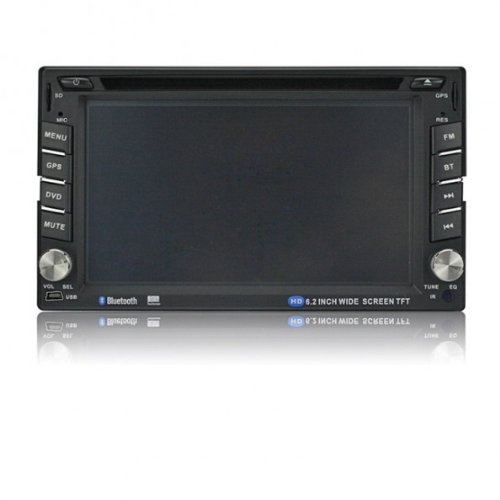 SainSpeed YT-C6202 Double Din 6.2inch car DVD/DIVX/MP4/AM/FM/BT/USB/SD Player with Touch Screen GPS Navigation Bluetooth