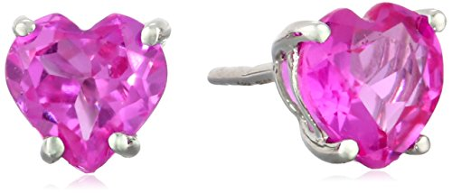 10k-Gold-Heart-Shaped-Gemstone-Stud-Earrings
