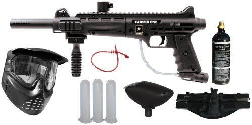 Tippmann US Army Carver One Paintball Kit (Includes mask Tank, Loader and 4+1)