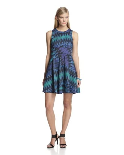 French Connection Women's Ethnic Zigzag Dress  [Black]