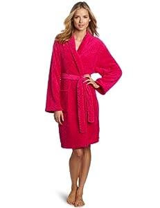075b0b4d91 Del Rossa Women s Water Absorbant 14 oz Fleece Shawl Collar Bathrobe ...