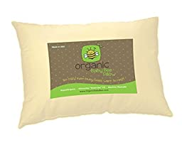 Toddler Pillow 13 X 18 - Soft Organic Cotton Shell - Hypoallergenic \