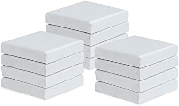 US Art Supply Mini-Stretched 2X2 Artist Canvas Primed Cotton Duck 12-Pack
