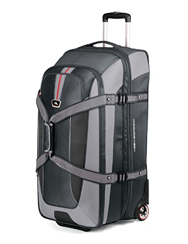 High Sierra AT659 32 -Inch Expandable Wheeled Duffel with Backpack Straps (Graystone/Shadow/Black) (High Sierra Wheeled Duffel compare prices)