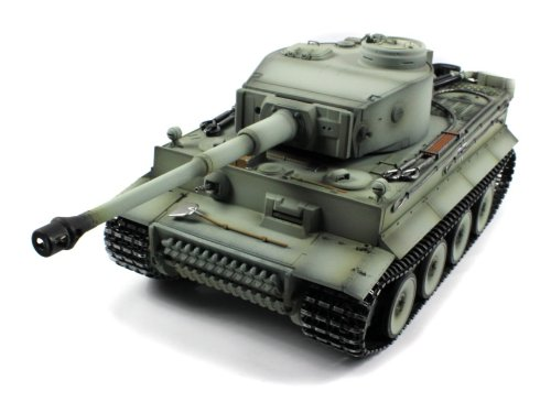 Taigen German Tiger 1 Electric Airsoft RC Tank Full Metal HC Series World War II WWII 2.4GHz Big 1:16 Scale Ready To Run RTR (Early Version), Shoots Airsoft BB's