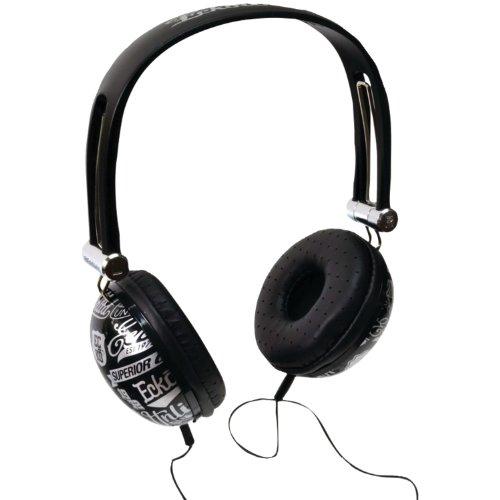 Ecko Eku-Imp-Colbk Unlimited Impact Over-The-Ear Headphones With Microphone (Black)