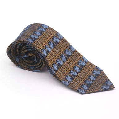 Burges Squirrel Tie (Navy/Gold)||EVAEX
