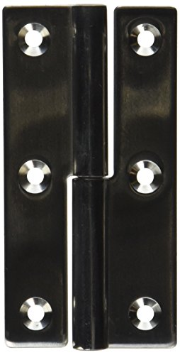 Sugatsune KN-75L/SS Lift Off Hinge, Stainless Steel 304, Polished Finish, Left Handedness, 2mm Leaf Thickness, 38mm Open Width, 8.5mm Pin Diameter