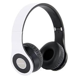 Bluedio B Wireless and Bluetooth Stereo Headphones with FM Radio/ SD Card slot (White)