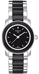 Tissot Women's T0642102205100 Cera Black Dial Ceramic Watch