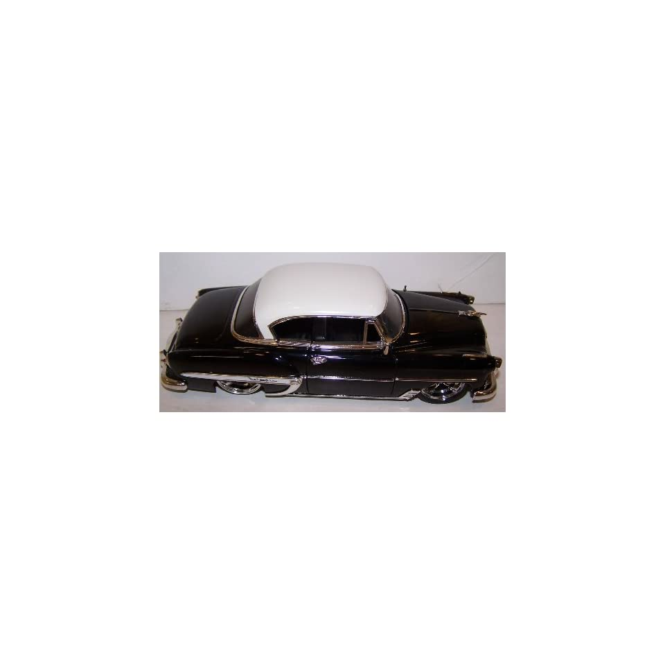 Jada Toys 1/24 Scale Dub City Diecast 1953 Chevy Bel Air in Color Black with White Top