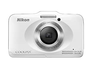 Nikon COOLPIX S31 10.1 MP Waterproof Digital Camera with 720p HD Video (White)