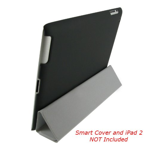 rooCASE Slim-Fit Companion Case for iPad 2 - Black - Back