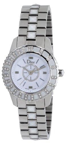Christian Dior Women's CD112113M001 Christal Diamond White Dial Watch