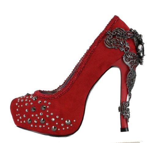 Hades Red Suede Amina Platform Heels UK 6.5 / EU 40
