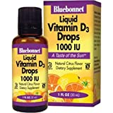 Bluebonnet Nutrition, Liquid Vitamin D3 Drops, Natural Citrus Flavor, 400 IU, 1 Fl Oz (30 Ml)