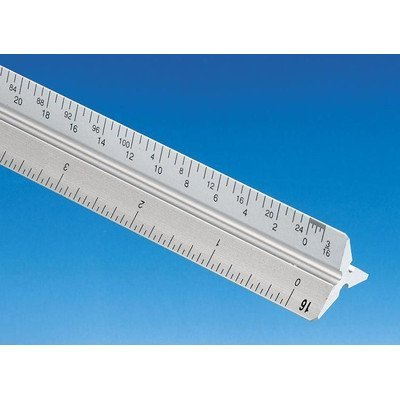 "Alvin 110 Series 12"" High Impact Plastic Architect Triangular Scale (110P)"