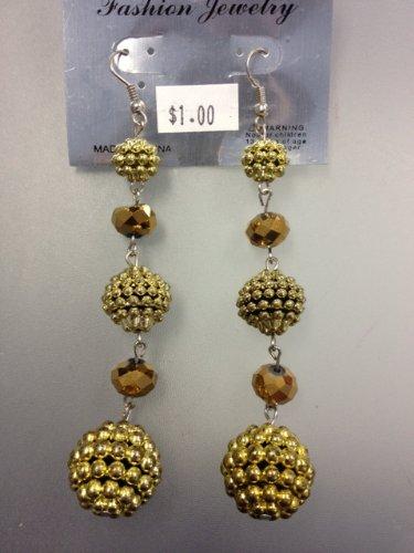 Gold Starburst Earrings