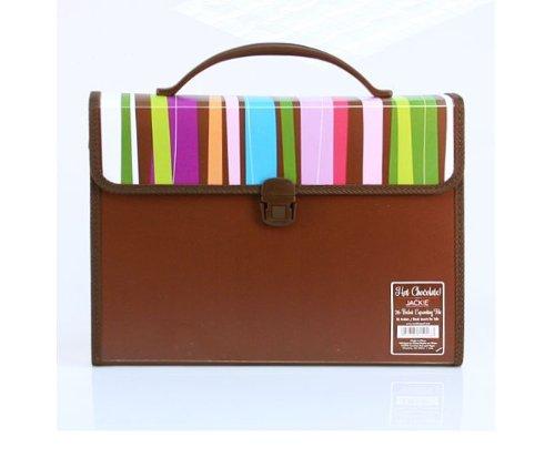 Carolina Pad Hot Chocolate 26-Pocket Expanding File Pixie Sticks Design, 10 x 13x 3 Inches (15026)