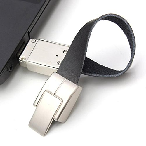 Coolbiz Innovatiive Leather Bracelet USB 2.0 Flash Drive 32GB Metal Memory Stick Storage Thumb U Disk