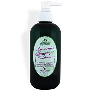 Nature's Organic Pet Lavender Shampoo and Conditioner for Dogs, 8 Ounces