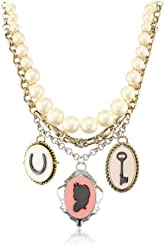 Jessica Simpson Parisian Charm Cameo Necklace, 16""
