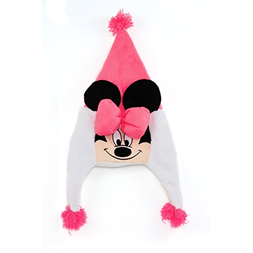 Disney Minnie Mouse Soft Plush Christmas Santa Hat Pink Bow