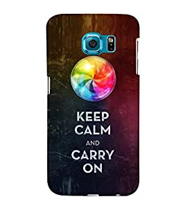 EPICCASE Carry on like a boss Mobile Back Case Cover For Samsung Galaxy S6 Edge Plus (Designer Case)