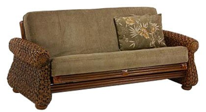 Night & Day Furniture Rattan Floral Iris Lounger