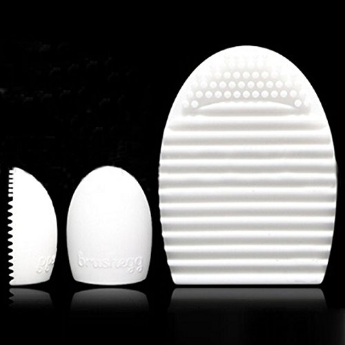 Vovotrade®Mode Gant de nettoyage MakeUp Brosse laveur Conseil cosmétique Clean(Blanc)