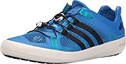 Adidas Climacool Boat Breeze Shoe - Men\'s Shock Blue / Core Black / Shock Green 10